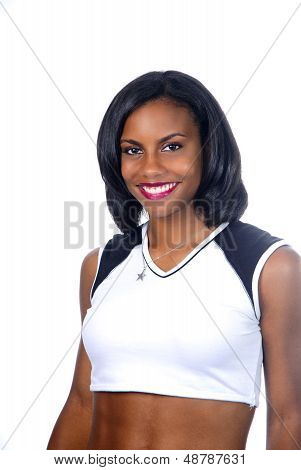 Portrait Of Beautiful Smiling African American Woman