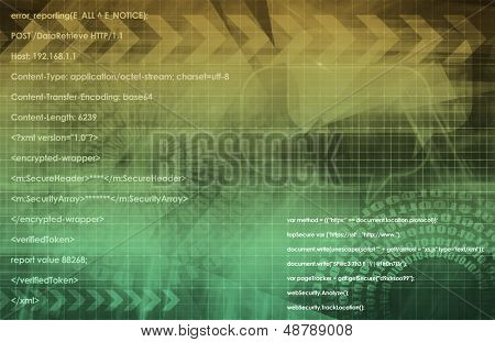 Business Technology Concept as a Abstract Art