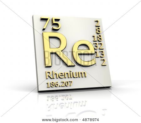 Rhenium Form Periodic Table Of Elements
