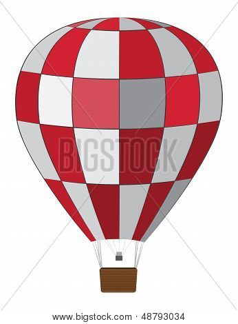 Red White Air Balloon
