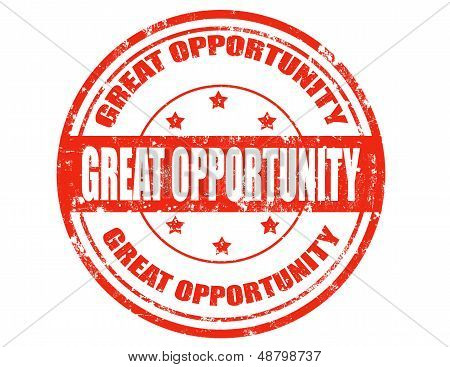 Great Opportunity-stamp