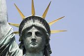 Head Of The Replica Of The Statue Of Liberty In Tokyo
