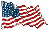 pic of iwo  - Illustration of a waving textured US 48 star flag of the period 1912 - JPG