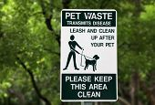 picture of pooper  - Pet waste sign at the park in Miami