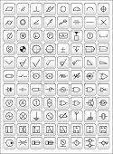 Постер, плакат: Значки наиболее часто используемых инженерных символы