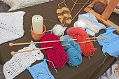 stock photo of thread-making  - knitting wool  - JPG