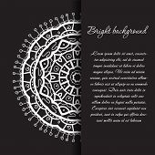 Black and white mandala ornament