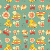 Ice Cream Retro Background