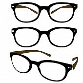 stock photo of protective eyewear  - image of glasses and spectacles vector  background - JPG