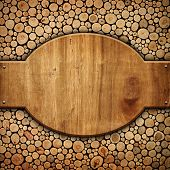 picture of oval  - wooden board - JPG
