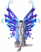 picture of faerie  - Strange fairy with mystic skin markings - JPG