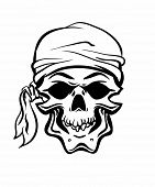 image of pirate flag  - Pirate Skull - JPG