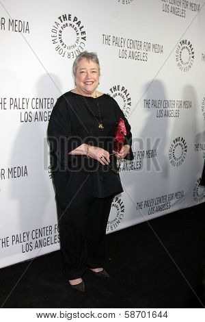 Kathy Bates at the Paley Center for Media 2013 Benefit Gala, 20th Century Fox Studios, Los Angeles, CA 10-16-13