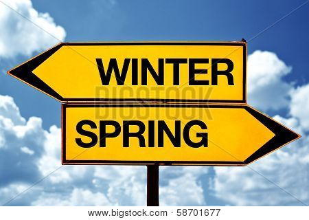 Winter Or Spring Opposite Signs