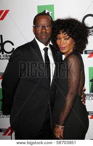 Courtney B. Vance and Angela Bassett at the 17th Annual Hollywood Film Awards Arrivals, Beverly Hilton Hotel, Beverly Hills, CA 10-21-13