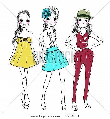 Three pretty girls