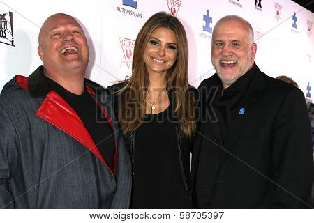Michael Chiklis, Maria Menounos and Chuck Saftler at the Blue Jean Ball benefiting Austism Speaks, Blvd. 3, Hollywood, CA 10-24-13