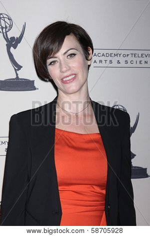 """Maggie Siff at An Evening with """"Sons of Anarchy,"""" Leonard H. Goldenson Theater, North Hollywood, CA 10-25-13"""