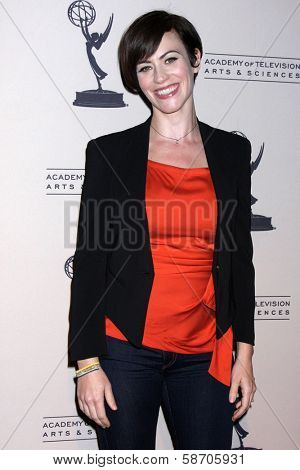 "Maggie Siff at An Evening with ""Sons of Anarchy,"" Leonard H. Goldenson Theater, North Hollywood, CA 10-25-13"