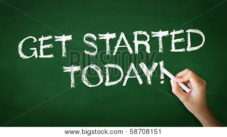Get Started Today Chalk Illustration