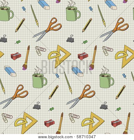 Stationery Seamless Pattern