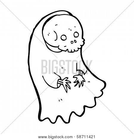 cartoon spooky ghoul