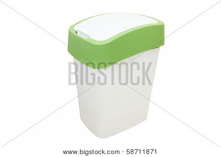 dustbin under the white background