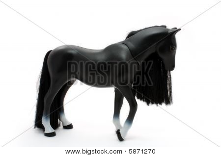 Black Plastic Toy Horse