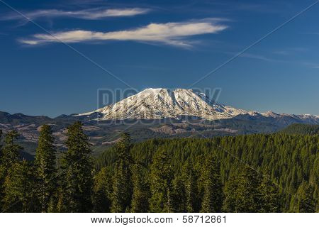Mount St. Helens On A Clear Day