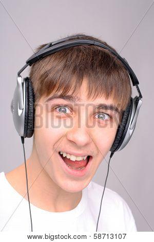 Teenager In Headphones