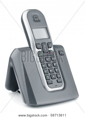 Digital cordless dect phone isolated on white