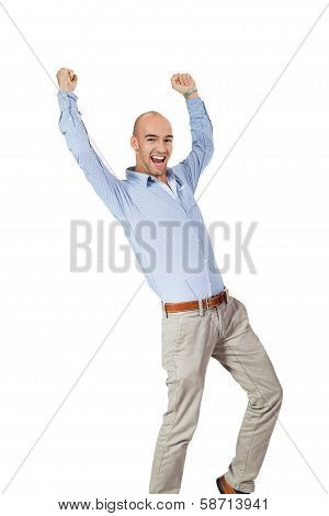 Man Cheering In Jubilation