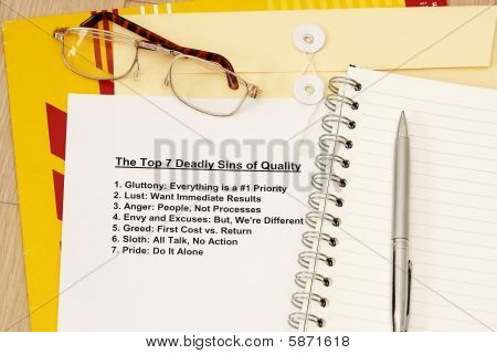 Seven Deadly Sin Of Quality