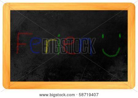 Ferien Colored Chalk On Blackboard
