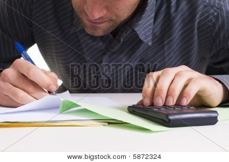 Man And Paper Work