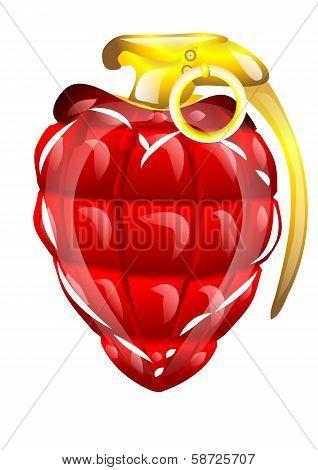 Hand Grenade In A Heart Shape