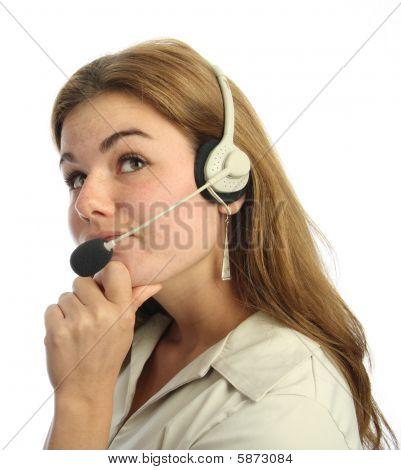 Sceptical Call Centre Agent