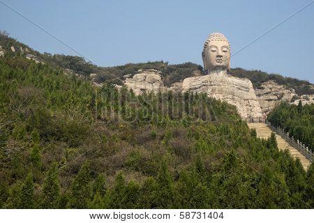 Shanxi's Mengshan Sitting Buddha