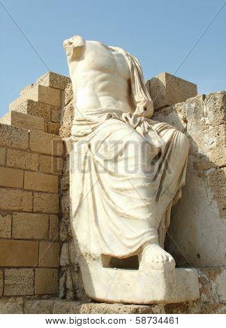Ancient  Sculpture Of Caesar