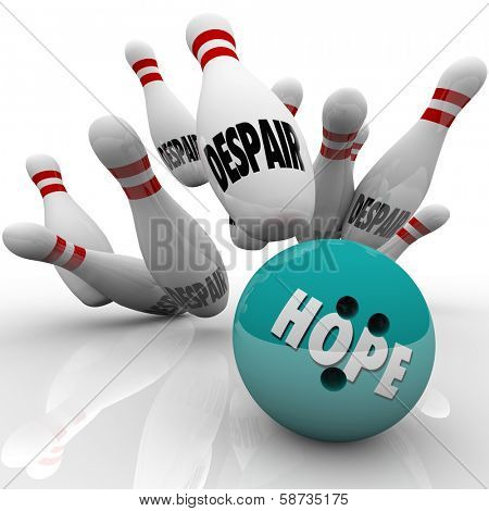 Hope vs Despair Bowling Conquering Doubt Faith Belief