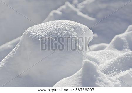 Bright New Fresh Sparkling Drift Heap Snow Background