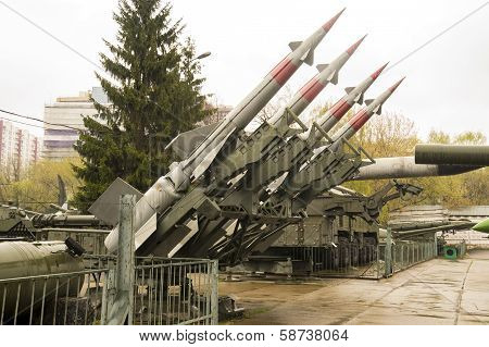 Russian Military Four Rocket Launcher System