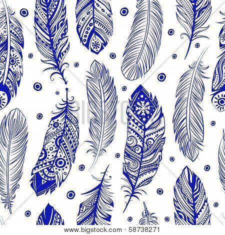 Beautiful Feather pattern seamless