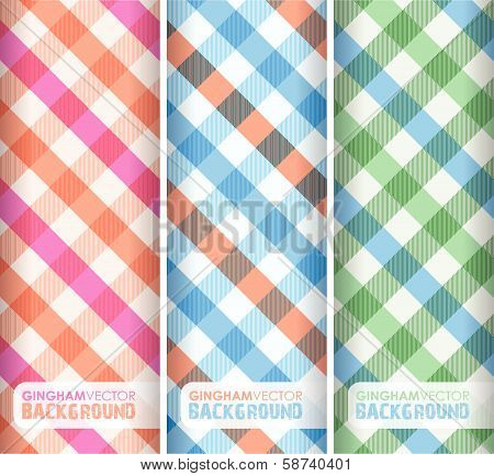 multicoloured gingham background