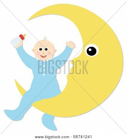 baby and the moon