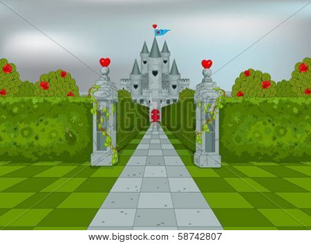 Palace of Queen of Hearts in Wonderland