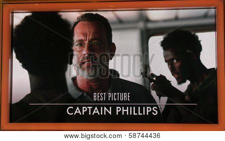 """LOS ANGELES - JAN 16:  """"Captain Phillips"""" Nominated Best Picture at the 86th Academy Awards Nominations Announcement  at AMPAS Samuel Goldwyn Theater on January 16, 2014 in Beverly Hills, CA"""