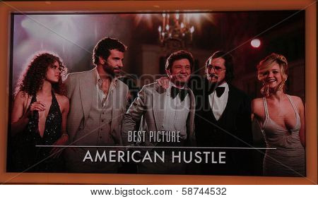 """LOS ANGELES - JAN 16:  """"American Hustle"""" Nominated Best Picture at the 86th Academy Awards Nominations Announcement  at AMPAS Samuel Goldwyn Theater on January 16, 2014 in Beverly Hills, CA"""