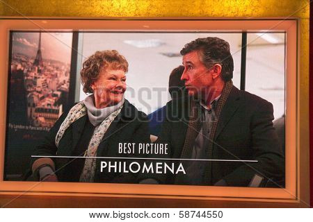 "LOS ANGELES - JAN 16:  ""Philomena"" Nominated Best Picture at the 86th Academy Awards Nominations Announcement  at AMPAS Samuel Goldwyn Theater on January 16, 2014 in Beverly Hills, CA"