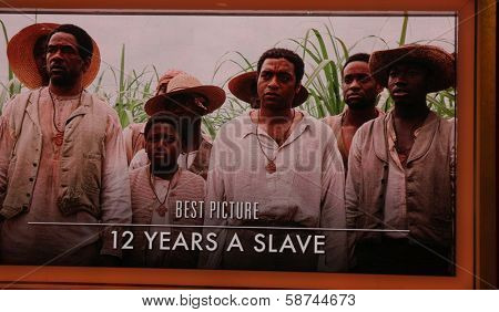 """LOS ANGELES - JAN 16:  """"12 Years a Slave"""" Nominated Best Picture at the 86th Academy Awards Nominations Announcement  at AMPAS Samuel Goldwyn Theater on January 16, 2014 in Beverly Hills, CA"""